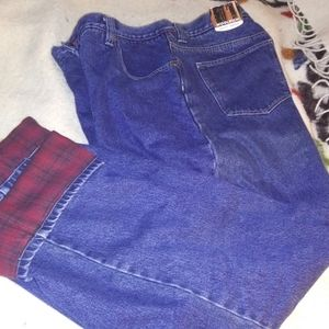 Woolrich Men's Flannel Lined Jeans NWT